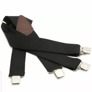Mens Carhartt Black Utility Suspenders